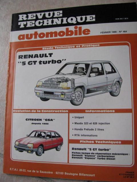 rta revue technique auto r5 renaulr 5 gt turbo